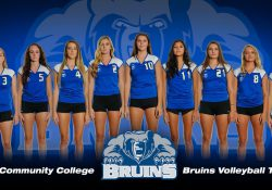 KCC's 2017 women's volleyball team.