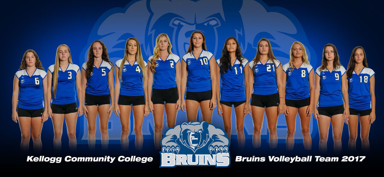 KCC's 2017 women's volleyball team.