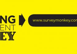 A bright yellow test slide encouraging students to participate in the Advising Assessment Survey online at www.surveymonkey.com/r/acadadv2017.