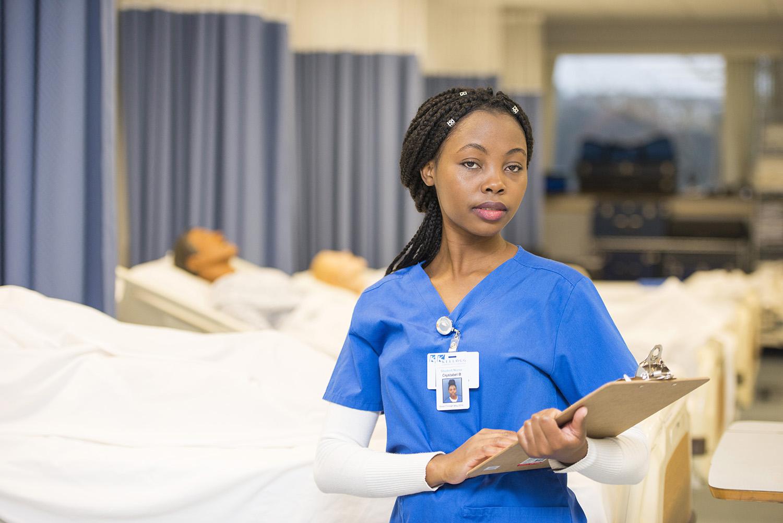 KCC Nursing student Crystabel Banda.