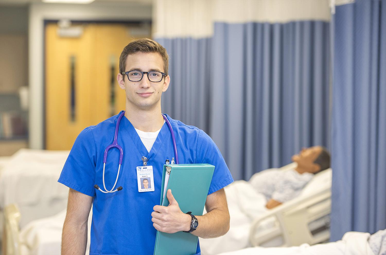 KCC Nursing student Isaac Lake.
