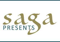 The logo for the Battle Creek Community Foundation's Saga Presents initiative.