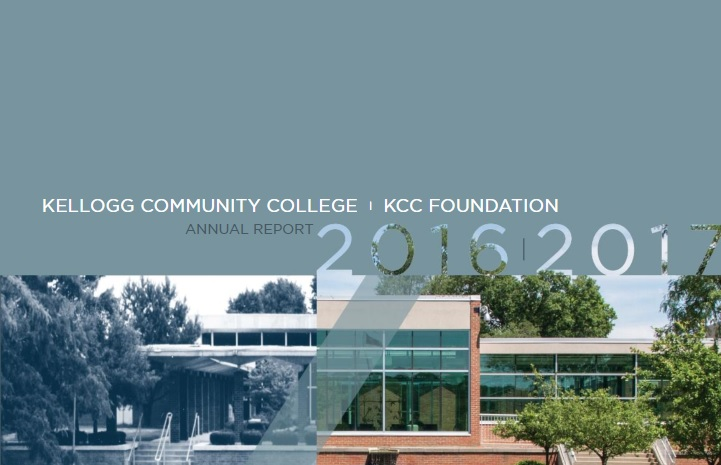 A cropped section of the cover to KCC's 2016-17 Annual Report.