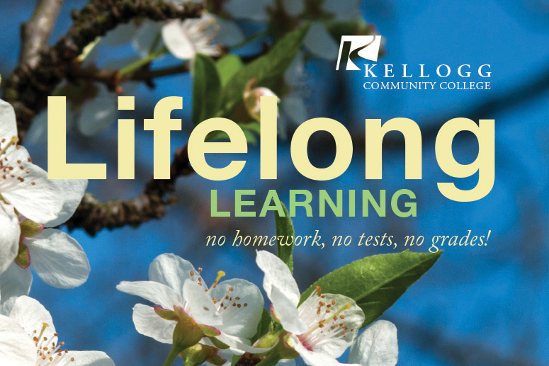 Cover detail from KCC's Lifelong Learning Department's Spring 2018 Schedule.