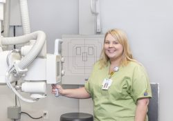 KCC Radiography student Cassandra Peck.