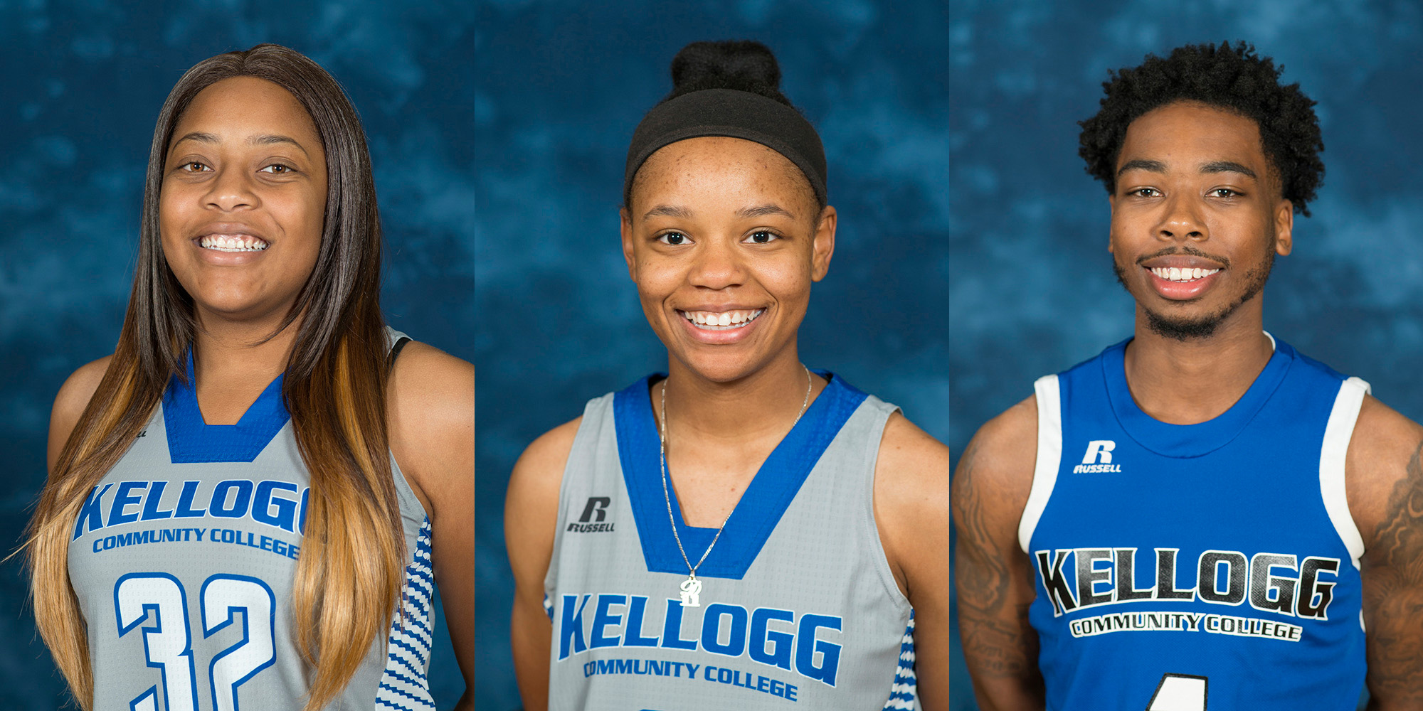 KCC basketball players Dareka Clayton, Destiny Kincaide and Khylen Watkins, who received Honorable Mention All-Conference honors from the MCCAA after the 2018 basketball season.