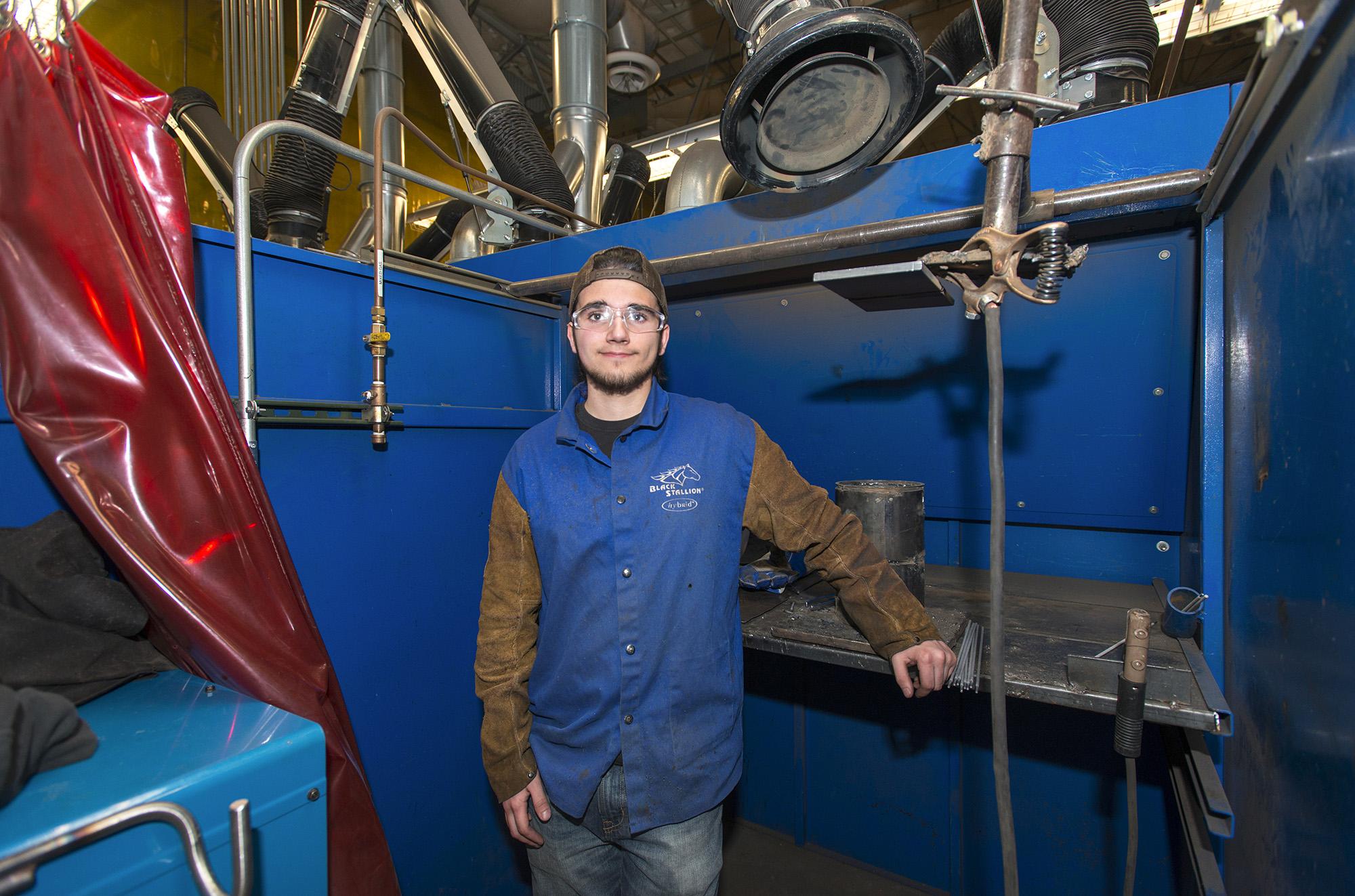 KCC welding student Connor Hoefler.