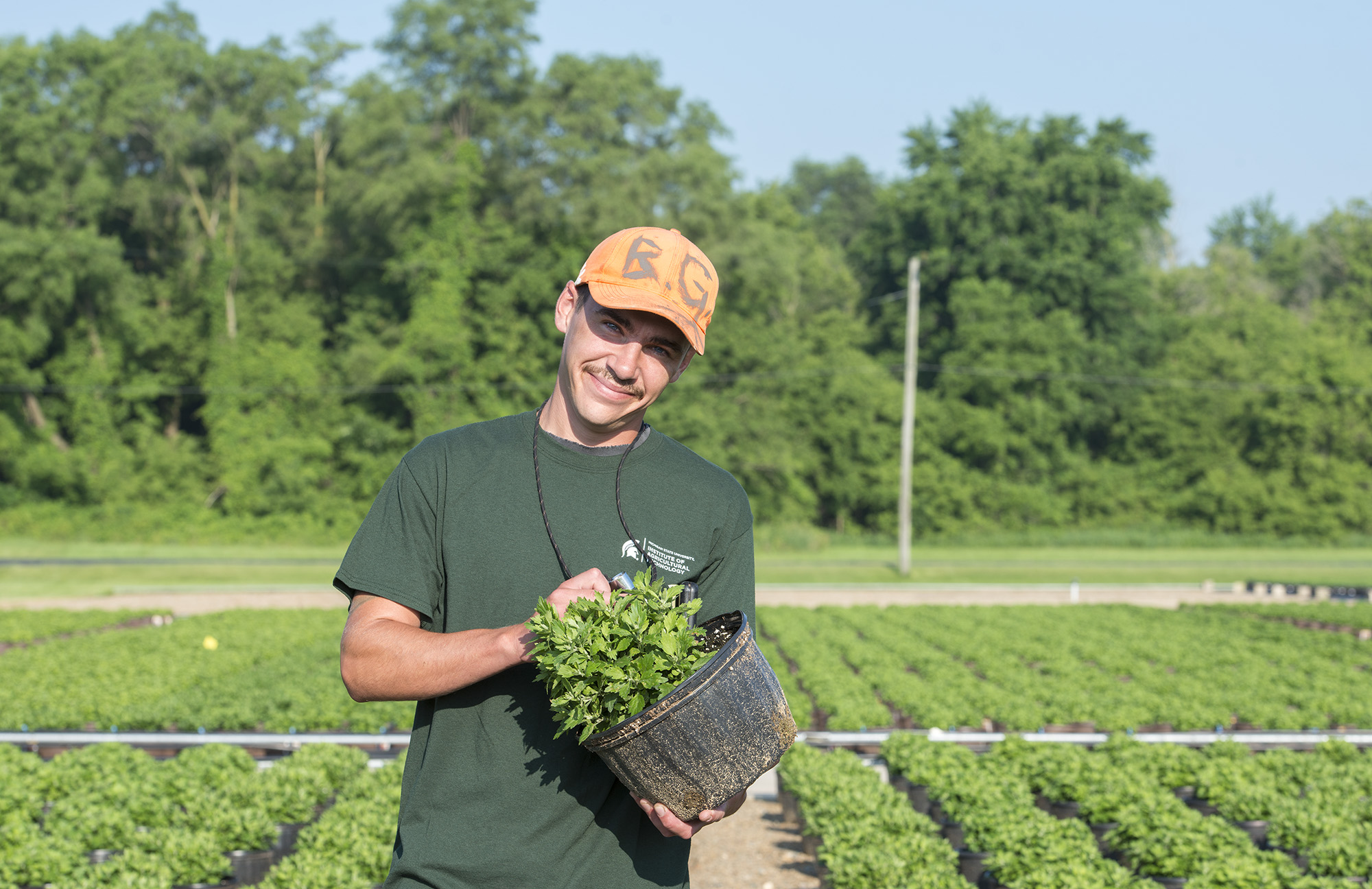 Agricultural Operations student Ben Geibig.