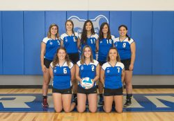 KCC's 2018 women's volleyball team.