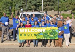 Bruin Scholarship Open organizers and volunteers pose for a group photo on KCC's North Avenue campus in Battle Creek.