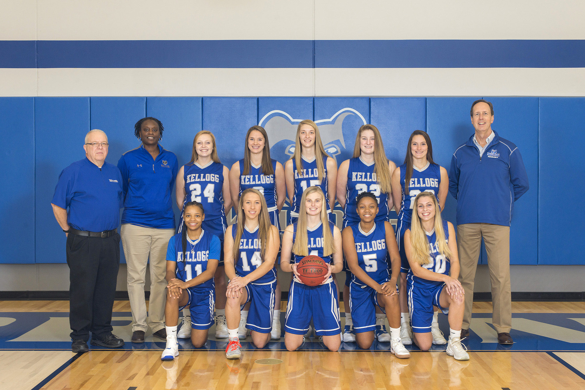 KCC's 2018-19 women's basketball team