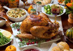A Thanksgiving dinner.