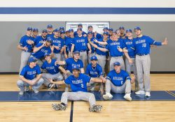 KCC's 2019 baseball team poses for a group photo in the Miller Gym.