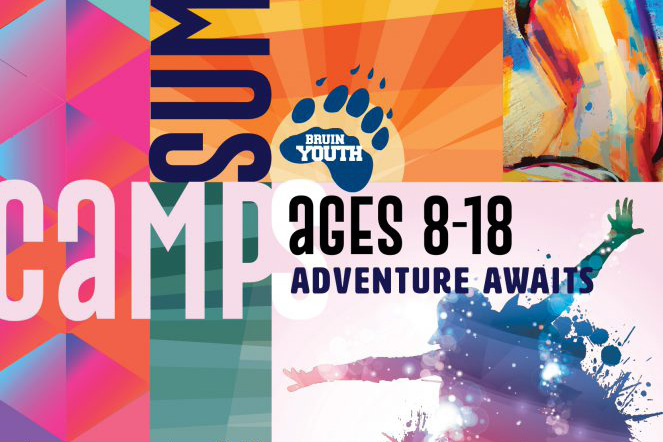 Detail from the cover of the 2019 Bruin Youth Programming summer camp schedule.