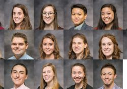 A collage of the portraits of the KCC Foundation's 17 2019-20 Gold Key Scholars.