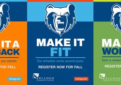 "Three ""Make It KCC"" campaign posters reading ""Make It a Comeback,"" ""Make It Fit"" and ""Make It Worth It,"" respectively."