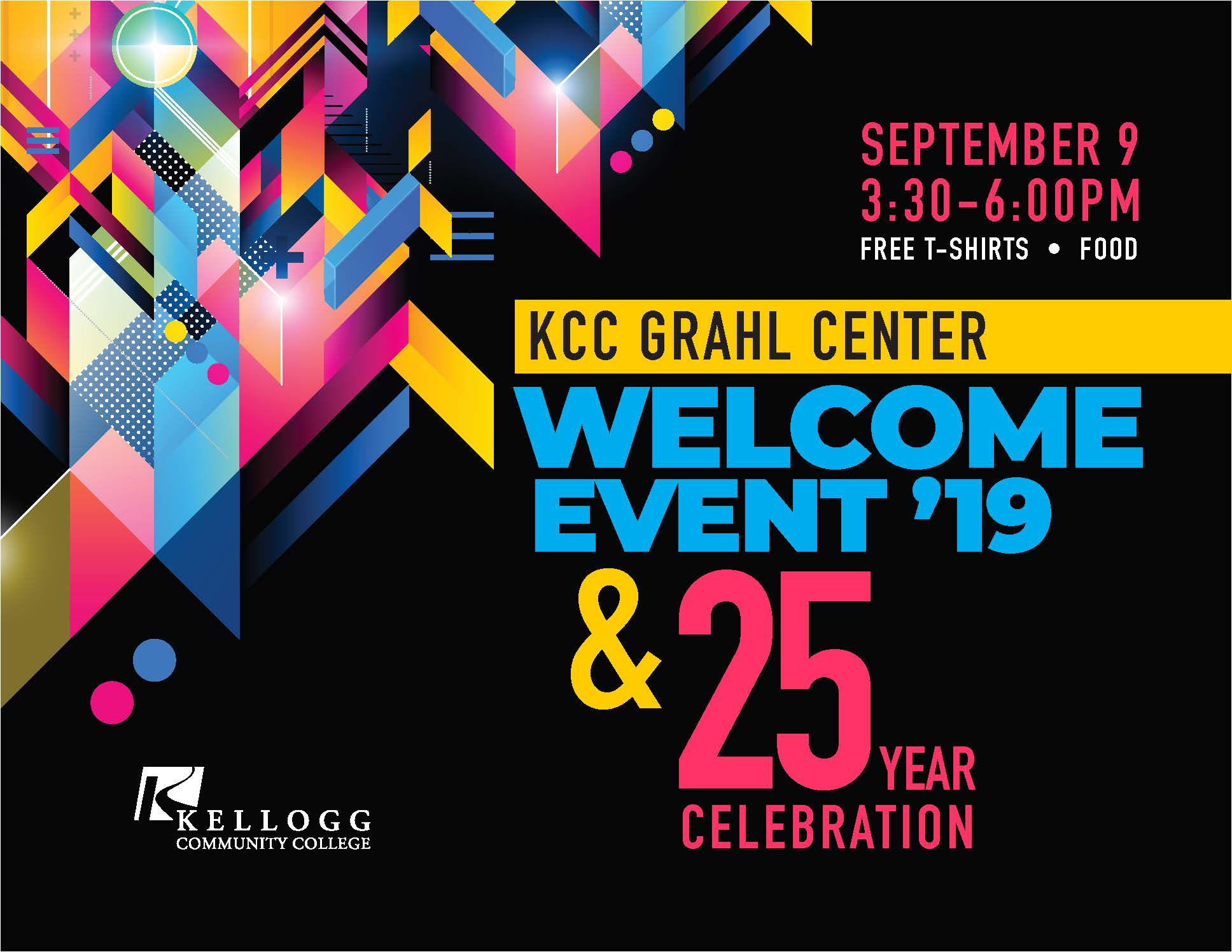 A text slide promoting the Sept. 9 Grahl Center event.
