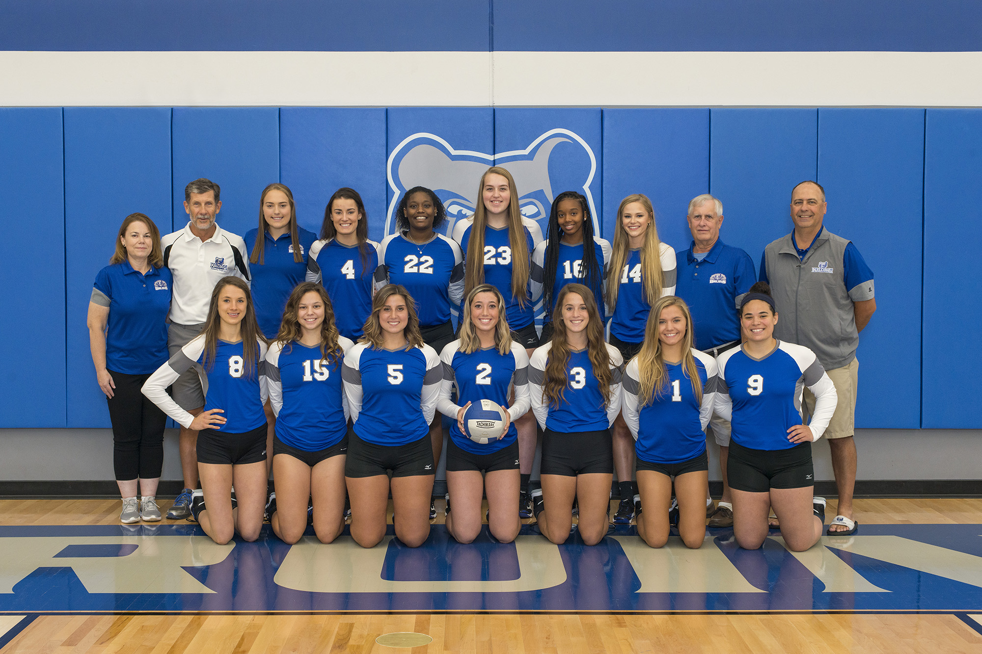 KCC's 2019 women's volleyball team.