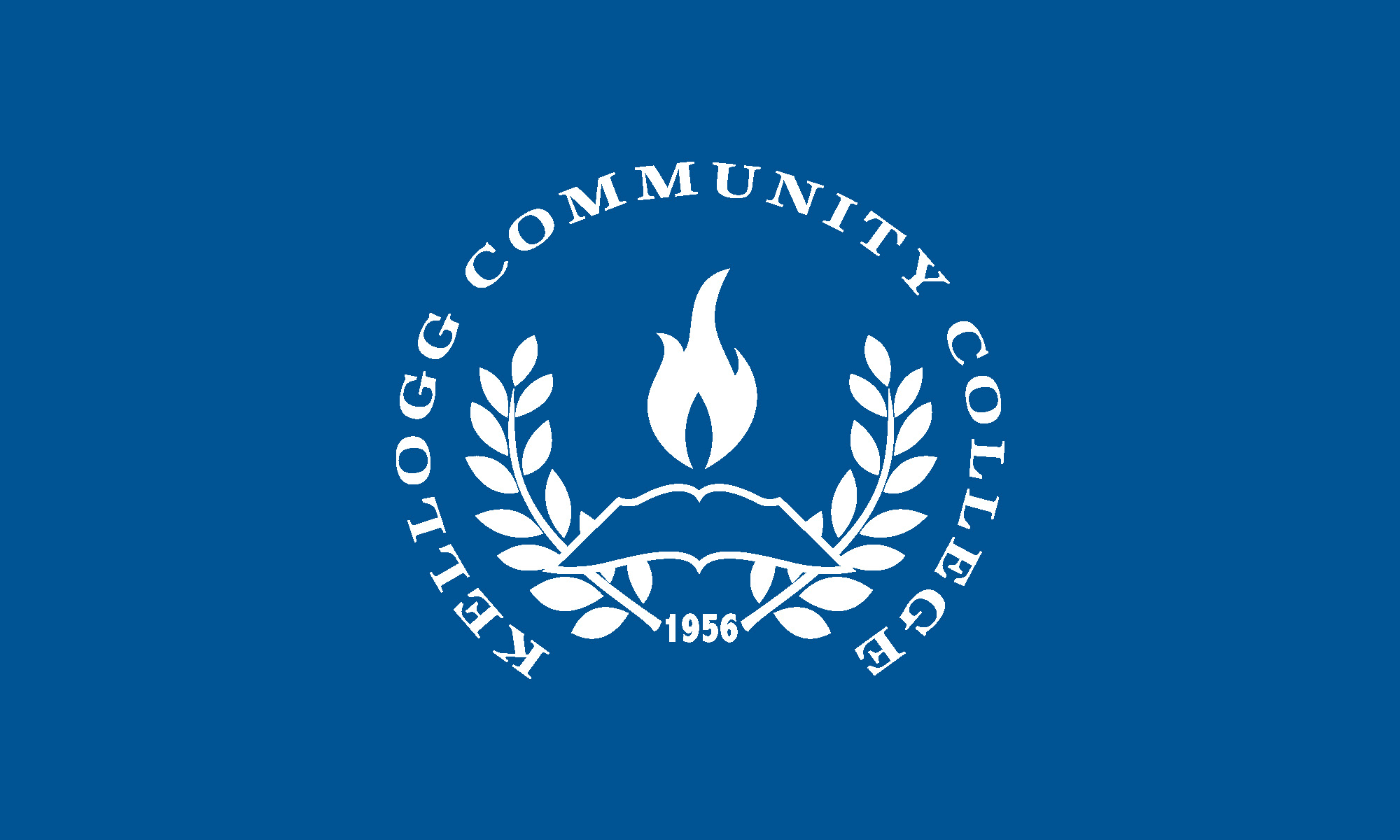 KCC's official seal in white on a blue background.