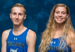 KCC cross country runners Kyle Strong and Morgan Walton.