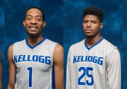 KCC men's basketball players Tahveayr Boykins, Ron Jamierson, Dashaan Palmer and Jamari Thomas-Newell.