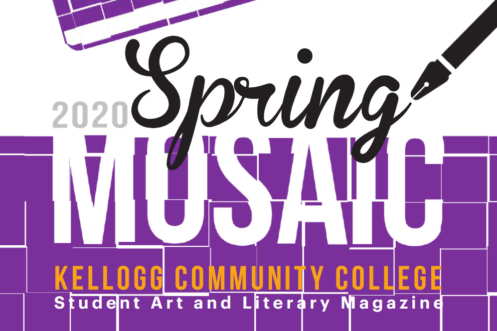 A decorative text image showing a portion of the cover of the Spring 2020 Mosaic.