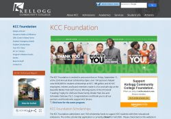 A screenshot of the KCC Foundation homepage.