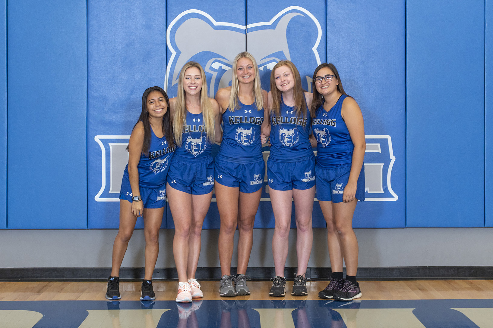 KCC's 2020 women's cross country team.