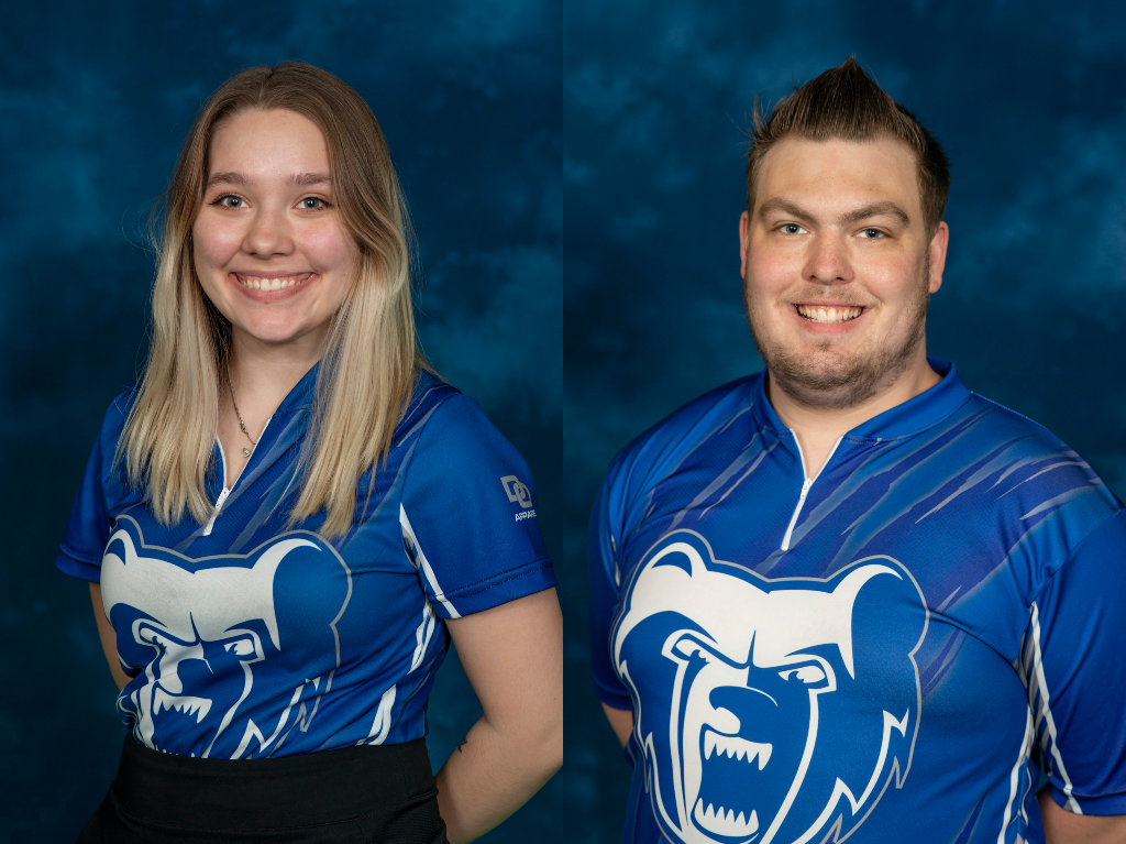 KCC bowlers Jazlyn Lotz and Jacob O'Donnell.