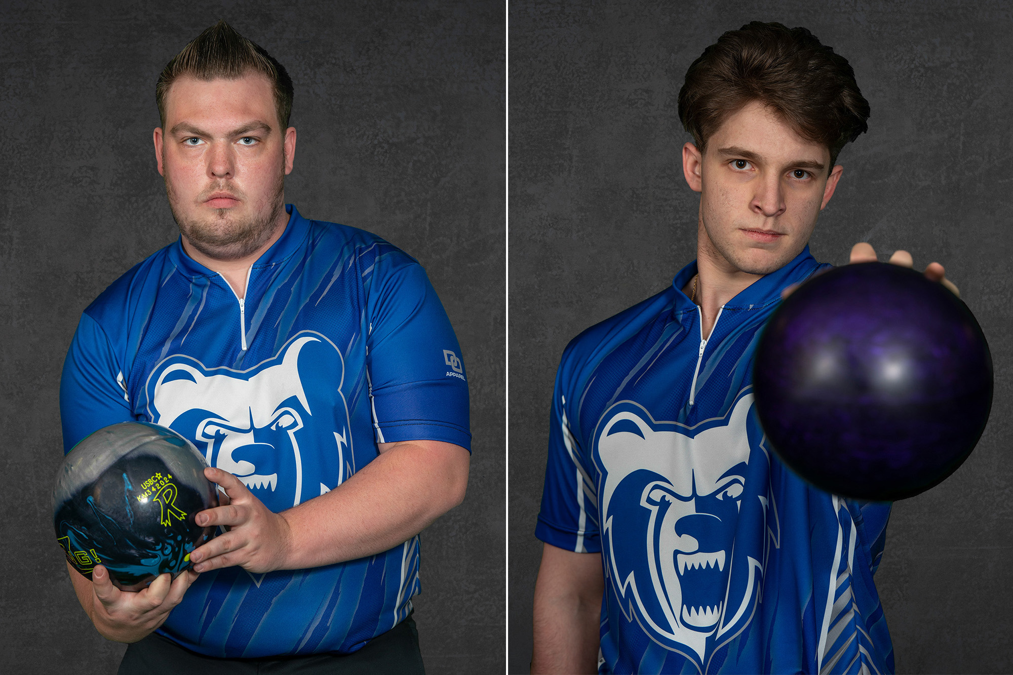 Men's bowlers Jacob O'Donnell and Bryan Foote