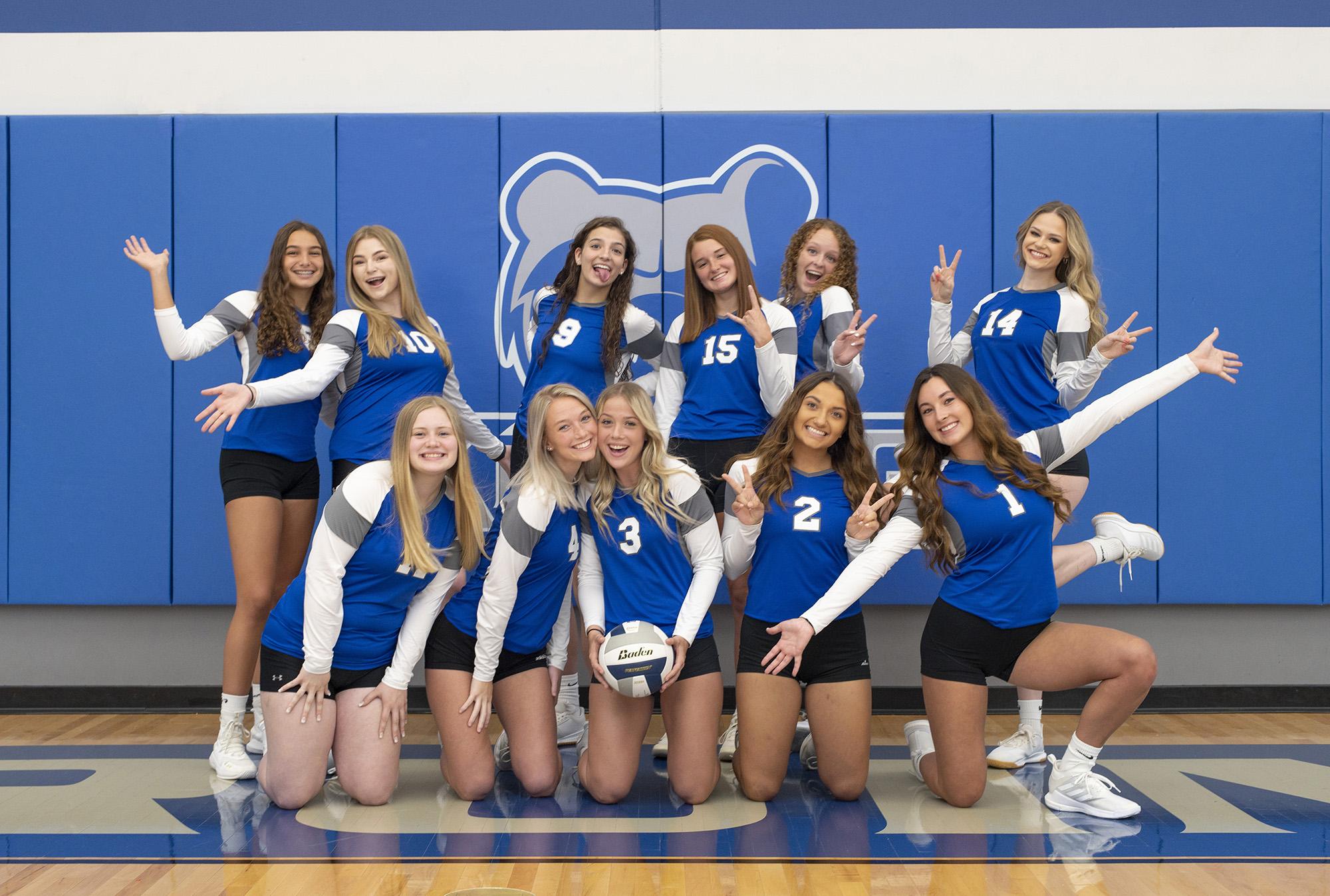 KCC's 2021-22 women's volleyball team.