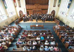 KCC choir members perform at First Presbyterian Church in downtown Battle Creek.