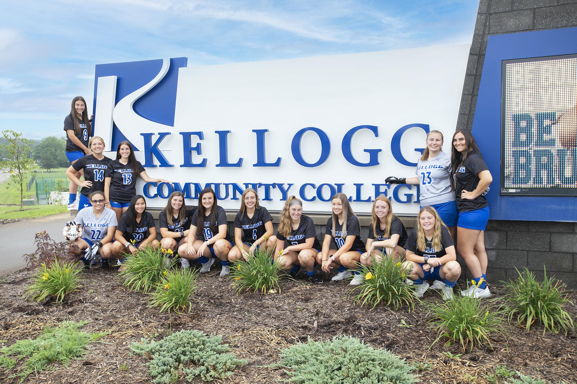 KCC's 2021-22 women's soccer team.